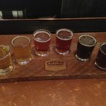Sampler at Three Creeks Brewery