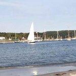 Sail boats at wingers heal beach