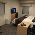 room - spacious, bed comfy (hard , typical in Japan)