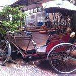 The beautiful vintage Tuk-Tuk