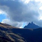 Las montañas desde el templo del sol