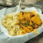 spicy cambodian mango curry rice
