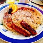 Blueberry pancakes for breakfast!