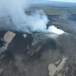 Lava steam - could see lave when smoke cleared