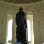 The towering statue of Jefferson.