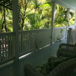 The porch just outside our room