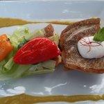 un des plats (poisson)