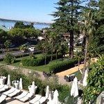 Vista del parco da una stanza del piano 1