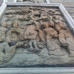"""Interesting sculptural """"relief"""", like several by the main stairs in the temple complex (pay area"""