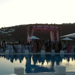 Pool Side Wedding Decorations at Petasos Hotel