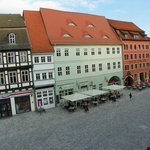 another view of the platz from our room window