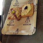 Tapas della casa del bacalao, 1 euro al pezzo e molto buone