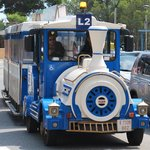 The train stops outside the hotel and can take you into Salou and to port Aventura