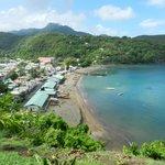Overlooking fishing village