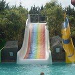 The aquapark - children's slides