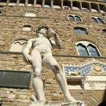 Copy of David in front of Palazzo Vecchio