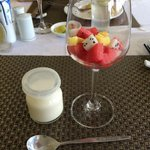 Yogurt and fruits @ buffer breakfast. Yogurt was made by the chef and was very smooth and delici