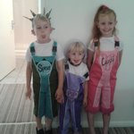 my children dressed as the skyline gang