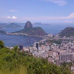 Beautiful view of Rio from Corcovado