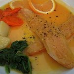 Turbot in lobster sauce