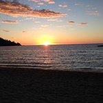 Un tramonto visto dall'Andilana Beach