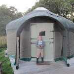 This was our yurt.