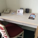 Desk with handy electrical outlets with USB