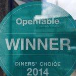 OpenTable Winner DINNER S CHOISE 2014