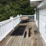 deck at entrance