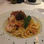 delicious lobster & shrimp pasta