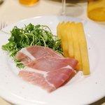 Melon and Parma ham, rocket salad