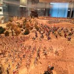Diorama of the battle