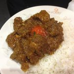 Curry Lamb with rice