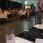 Raki with view of the pedestrian street