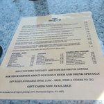 Menu offerings Moby's Pub  |  124 Upper Ganges Road, British Columbia V8K 2S2, Canada