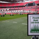 Wembley pitch side