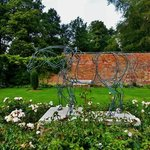 Wire Horse in walled garden