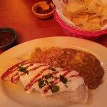 Famous chicken burrito