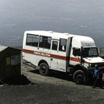 4X4 Bus at 2500m point on Mount Etna