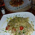 spaghetti alle sarde e gnocchetti al granchio!!