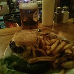 The Bird burger, with blue cheese and amazing fries
