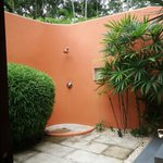 We loved outdoor shower. Very private.