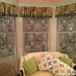 No blinds, just lace curtains