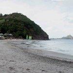 Beach (Pigeon Island in background)