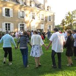 Traditional dancing on the lawn