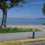 Vistas a la Playa de Agrelo, Bueu