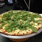 white pizza wity arugula.....
