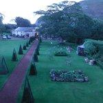 View of gardens from Prestonfield Inn