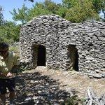 double dry stone hut