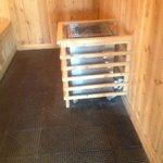 Protection around heater in Sauna